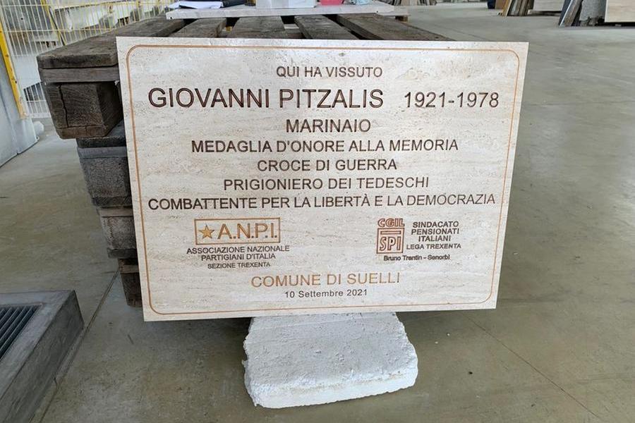 Suelli, targa commemorativa per l'eroe di guerra Giovanni Pitzalis