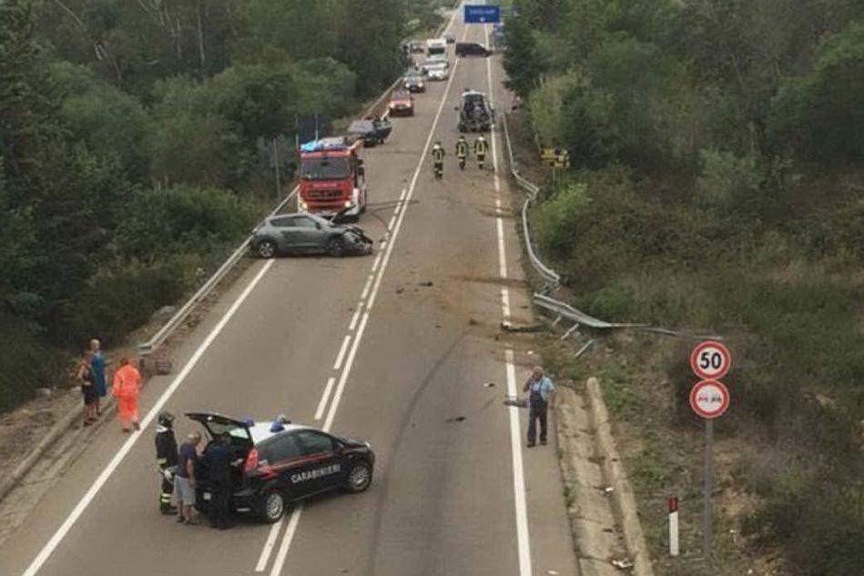L'incidente (foto L'Unione Sarda - Falchetto)