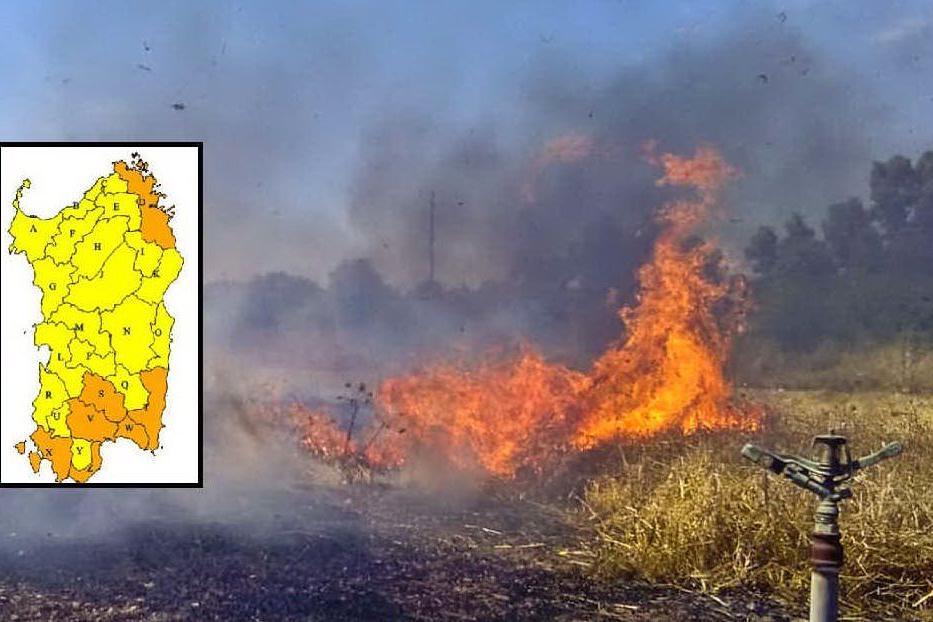 Rischio incendi, ancora pericolo alto