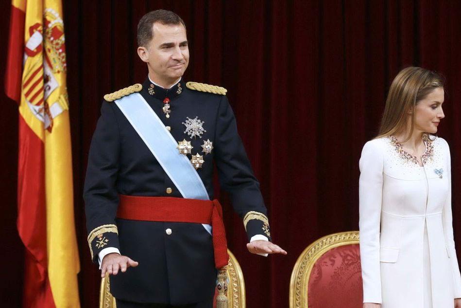 Il Re di Spagna con sua moglie Letizia