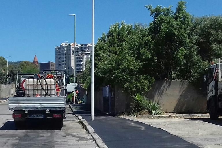 Carbonia: dopo le proteste ripartono i cantieri