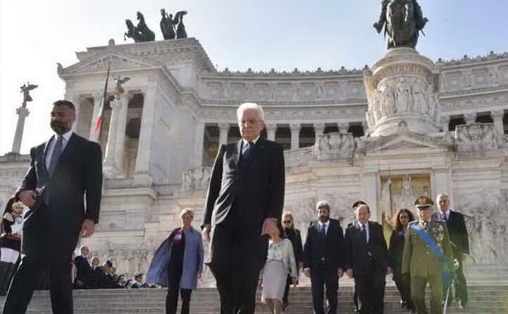Le celebrazioni dell'anno scorso a Roma con il presidente della Repubblica Mattarella (Archivio L'Unione Sarda)