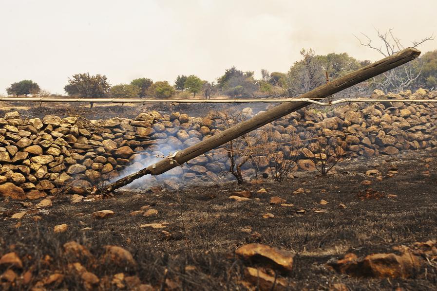 I danni nell'Oristanese (L'Unione Sarda)