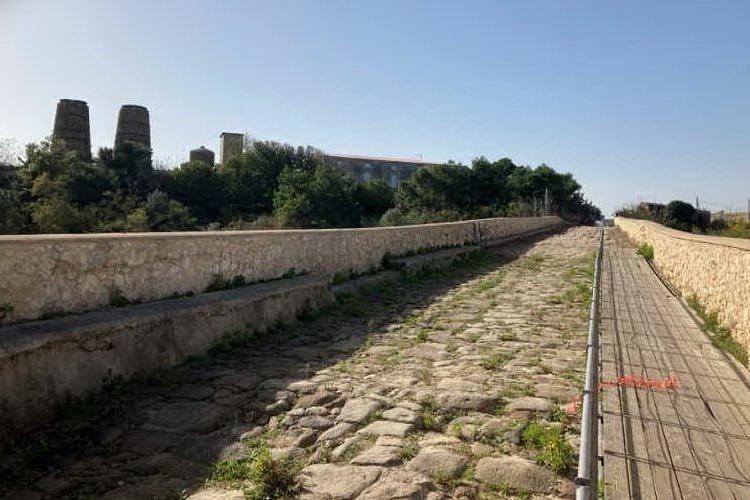 L'antico ponte romano (L'Unione Sarda - Pala)