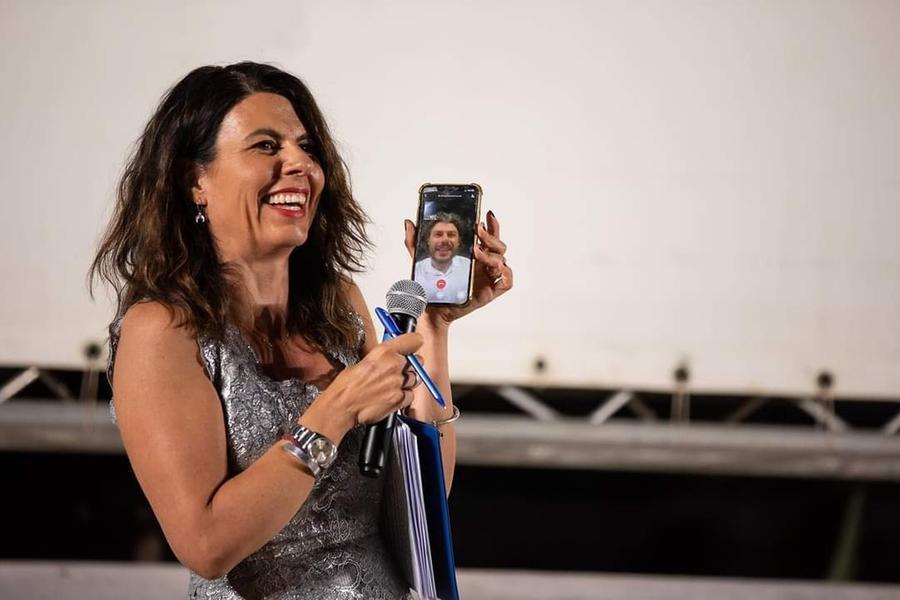 Geppi Cucciari, conduttrice dell'evento (foto ufficio stampa)