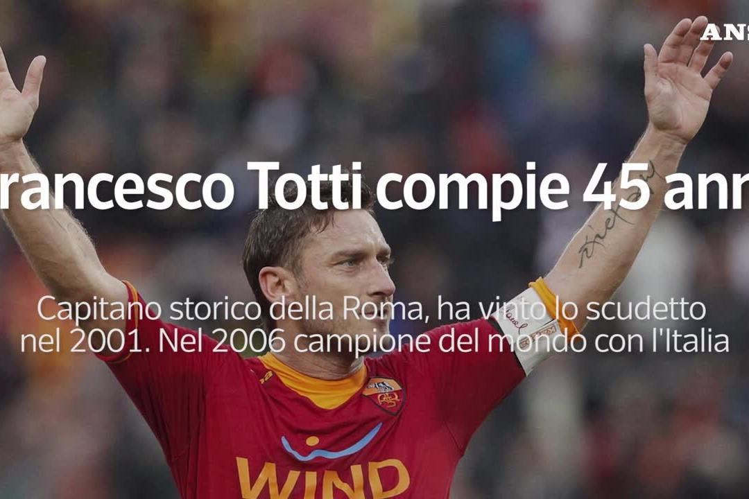 Francesco Totti compie 45 anni