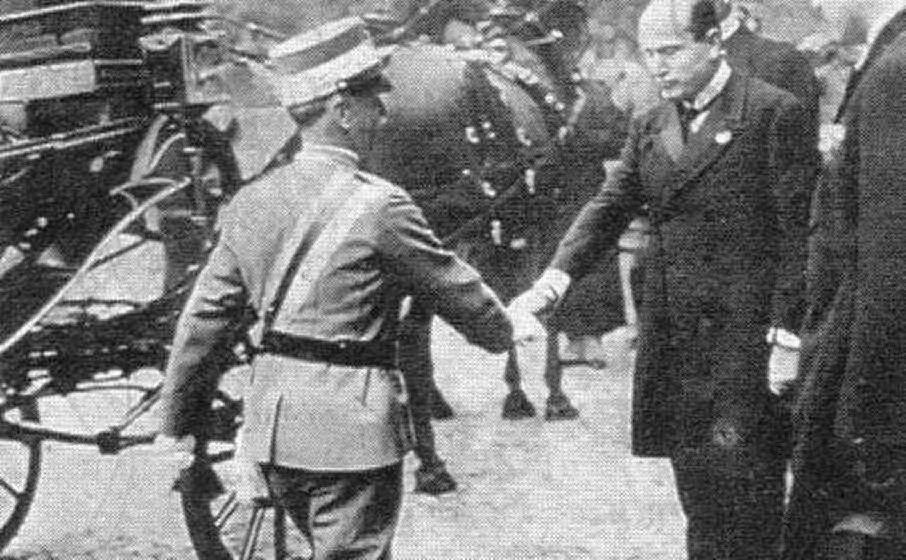 L'incontro del '22 con Vittorio Emanuele