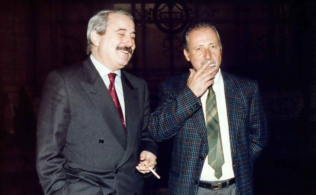 Borsellino (a destra) insieme al collega Giovanni Falcone