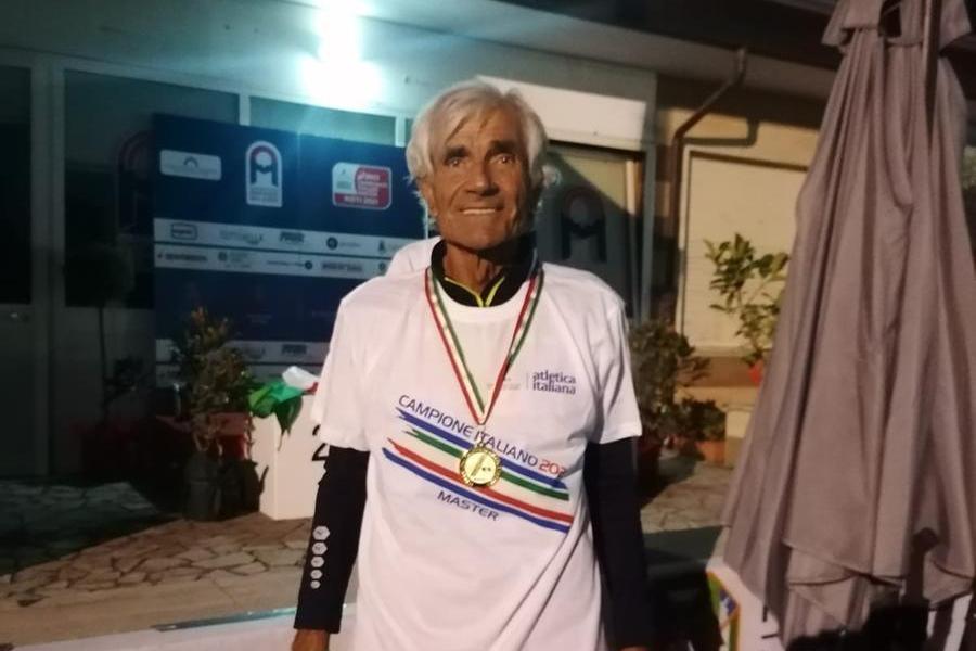 Giovanni Melis, oro ai campionati italiani (foto Serreli)