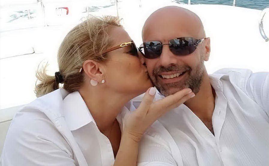 Uno scatto insieme al marito Umberto Maria Anzolin (foto Instagram)