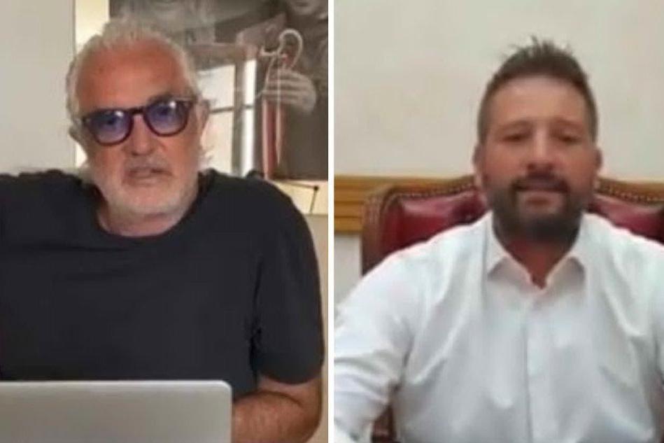 Briatore e Ragnedda nei rispettivi video