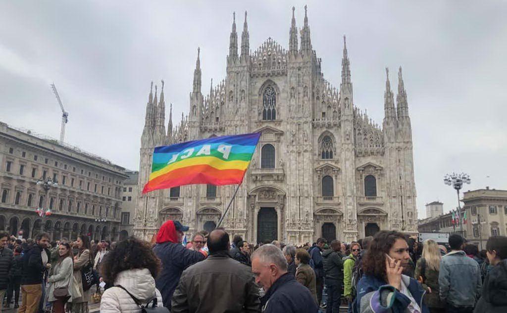 Ed è arrivato in piazza Duomo