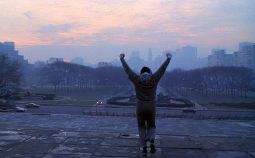 Rocky Balboa in una scena del film