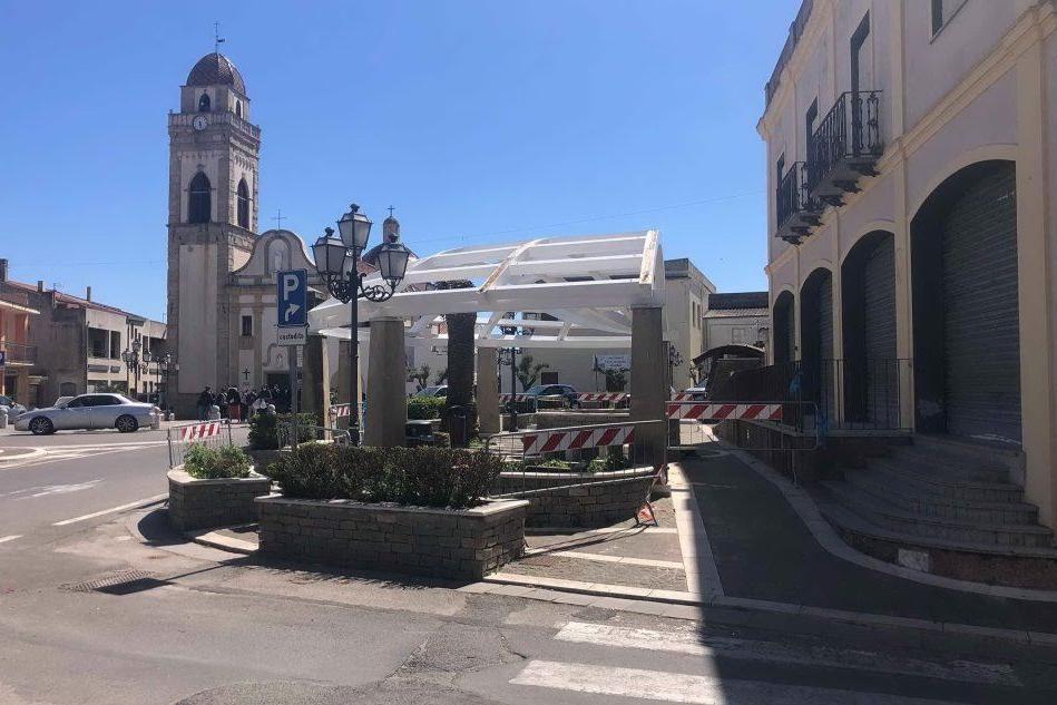 Senorbì, messa in sicurezza la piazza Sant'Antonio