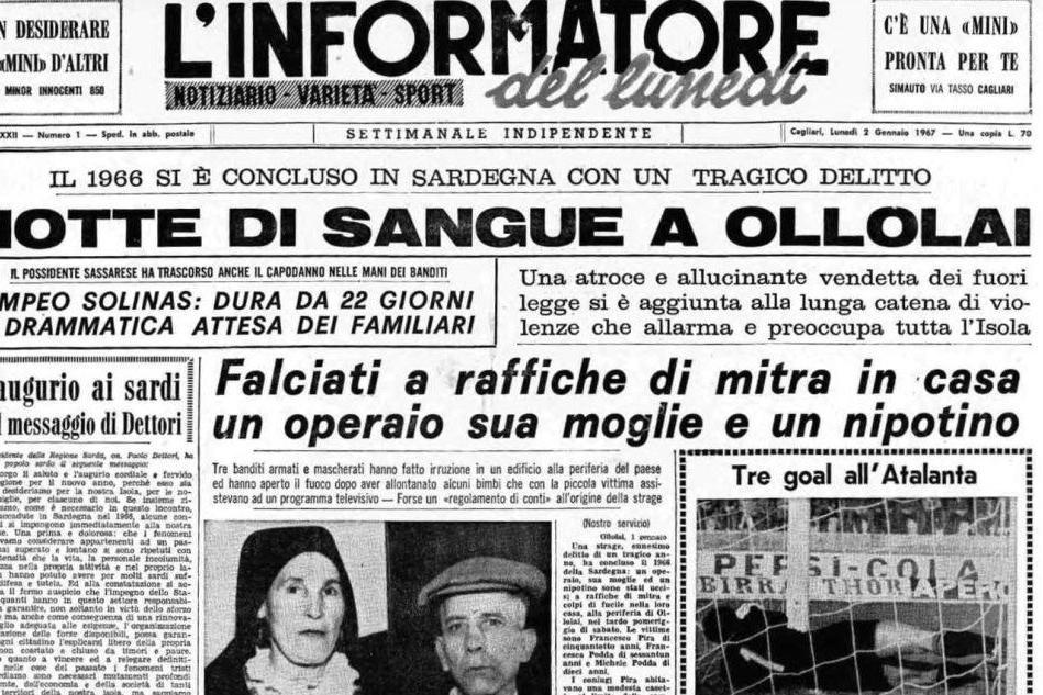 #AccaddeOggi: 2 gennaio 1967, il giallo della strage di Ollolai