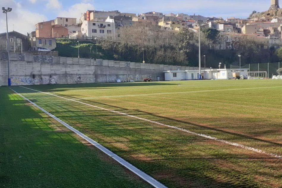 Osilo, quasi pronto il campo sportivo in erba sintetica