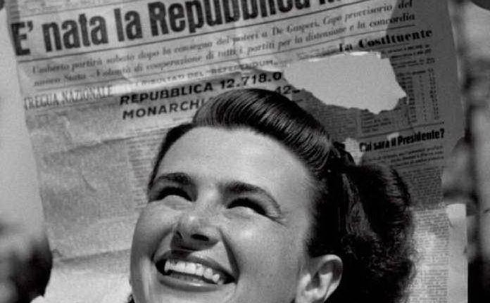 L'immagine simbolo delle donne al voto in Italia
