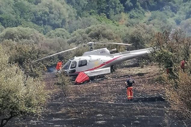 L'elicottero precipitato (L'Unione Sarda - Caria)