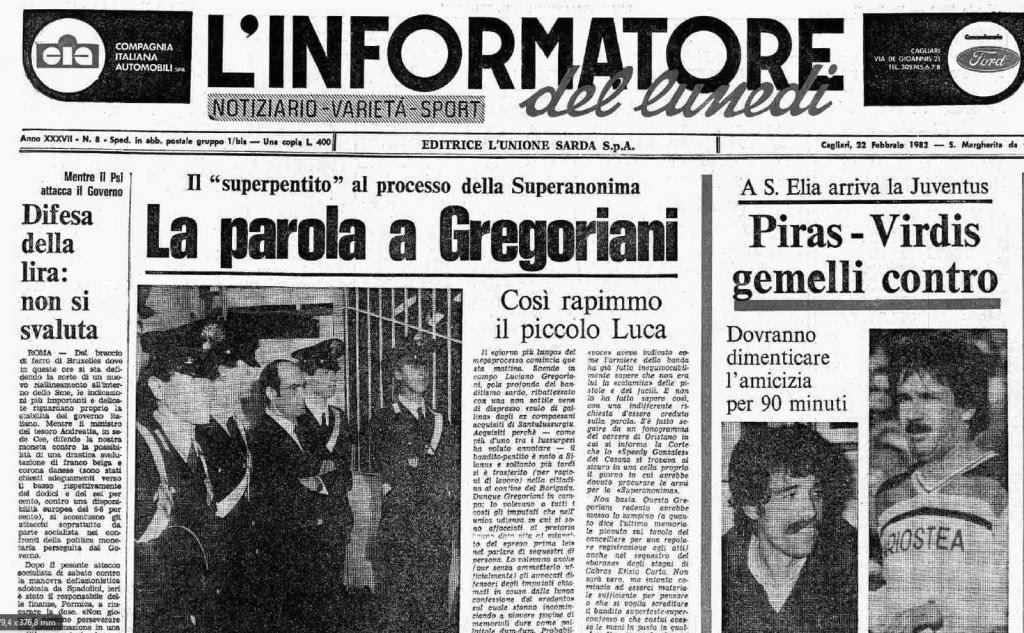 #AccaddeOggi: 22 febbraio 1982, Luciano Gregoriani vuota il sacco, prima Gola profonda dell'Anonima Sarda