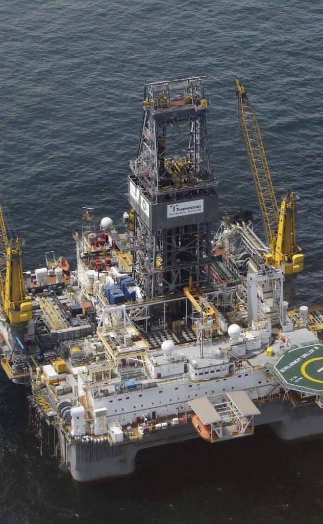 Un'immagine dall'alto della Deepwater-Horizon