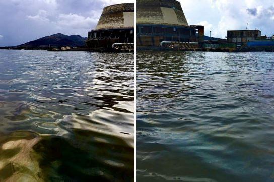 Maltempo, olio e liquami in mare davanti alla Saras di Sarroch