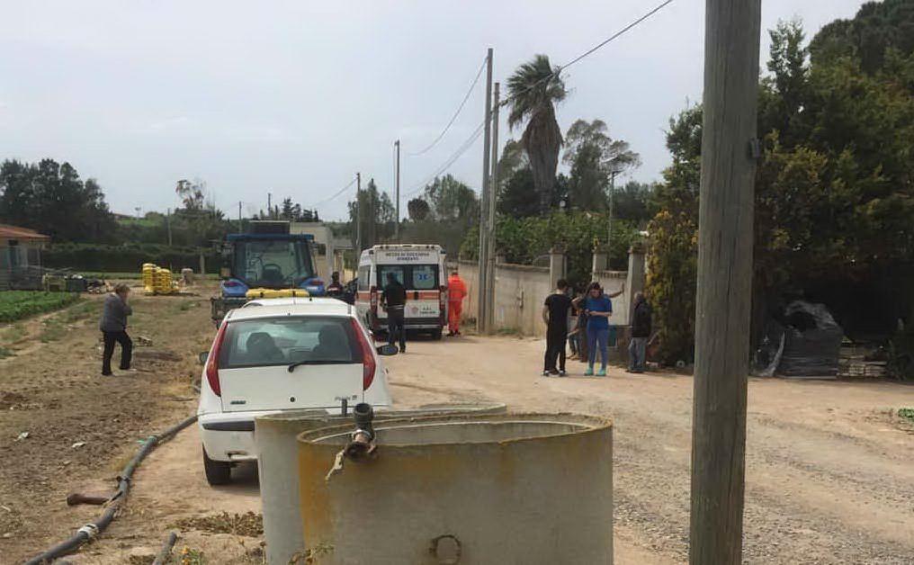 L'incidente è avvenuto in campagna nella zona di Sestu (foto L'Unione Sarda - Pinna)