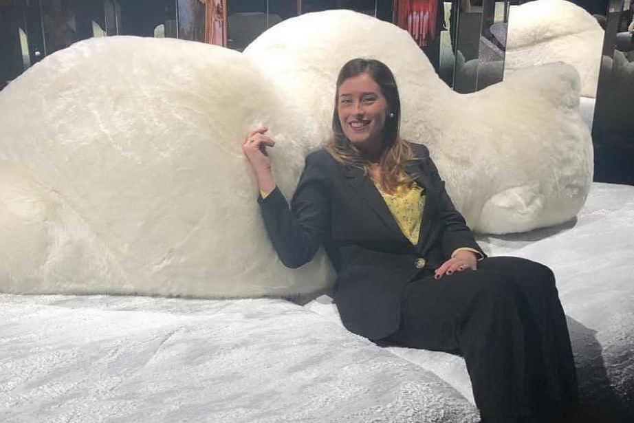 Maria Elena Boschi al Salone del Mobile (da Instagram)