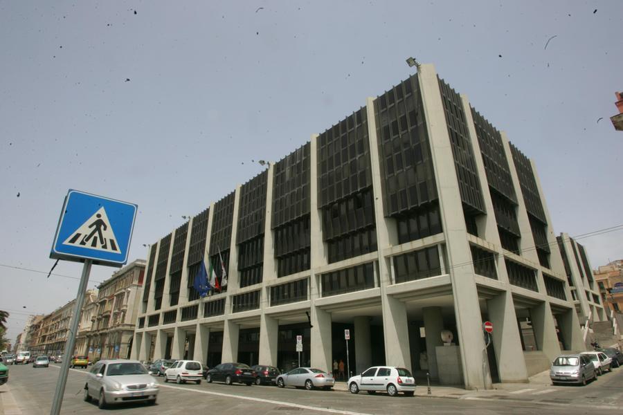 Il palazzo del Consiglio regionale a Cagliari