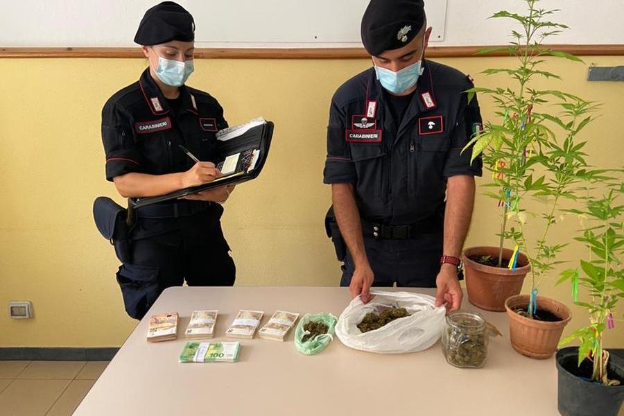 In casa marijuana e 27mila euro, un arresto a Lanusei