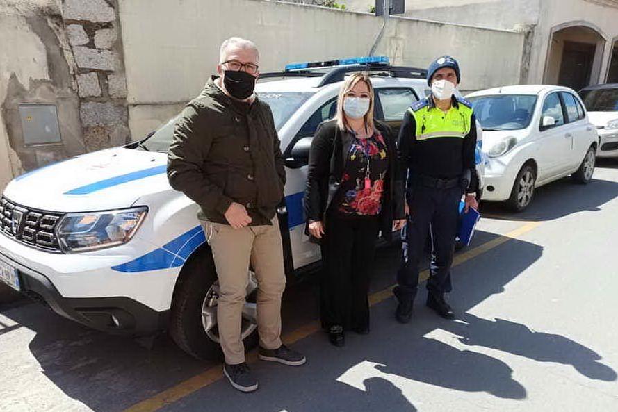 La nuova auto della Polizia locale (Foto concessa)