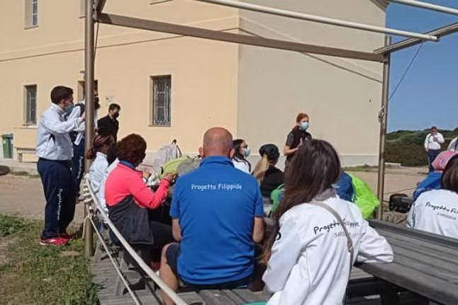 Autismo, runner speciali visitano le tartarughe dell'Asinara