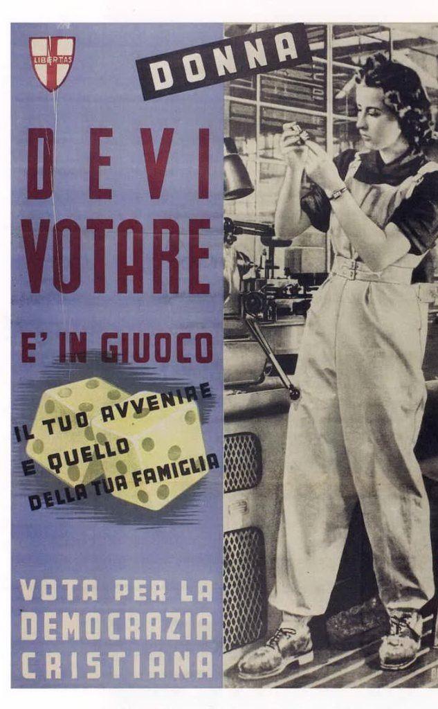1946, la Dc punta sul voto femminile