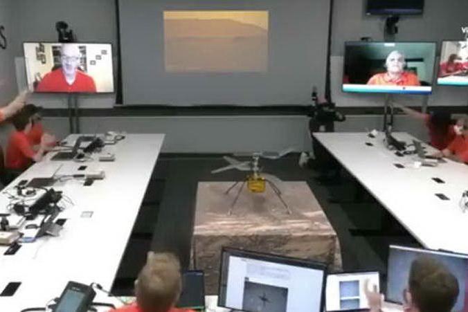 L'elicottero Ingenuity della Nasa ha volato su Marte