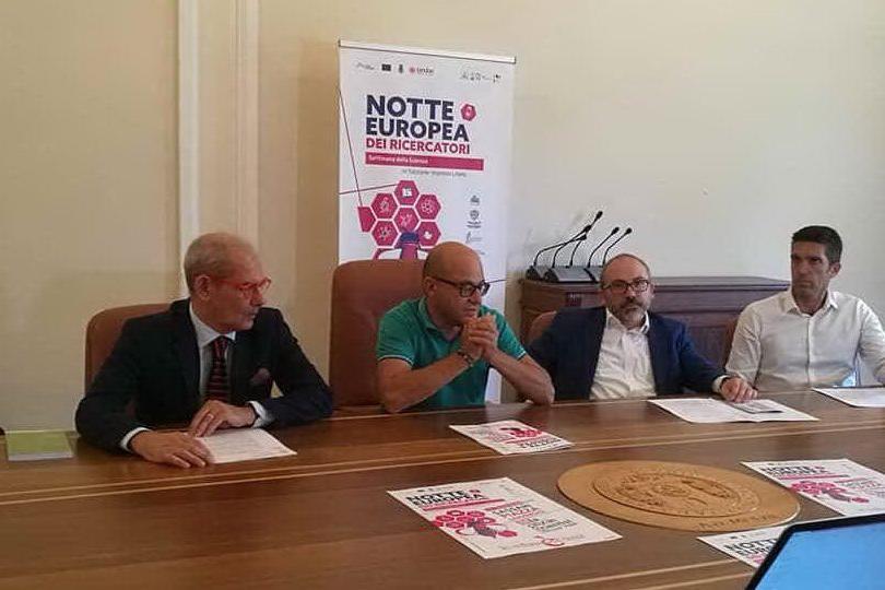 Un momento della conferenza stampa (foto Università di Sassari)