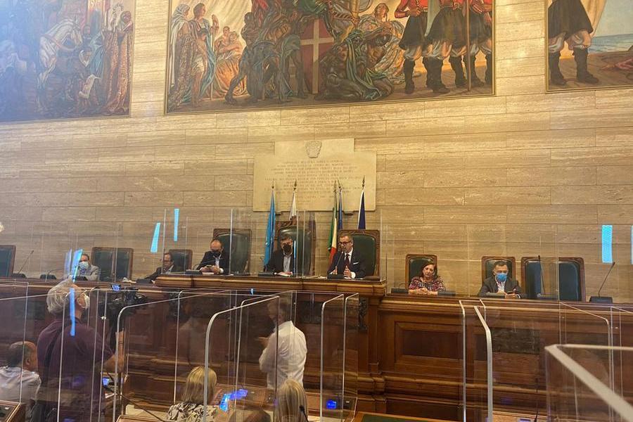 Cagliari, l'aula del consiglio comunale (Archivio L'Unione Sarda)