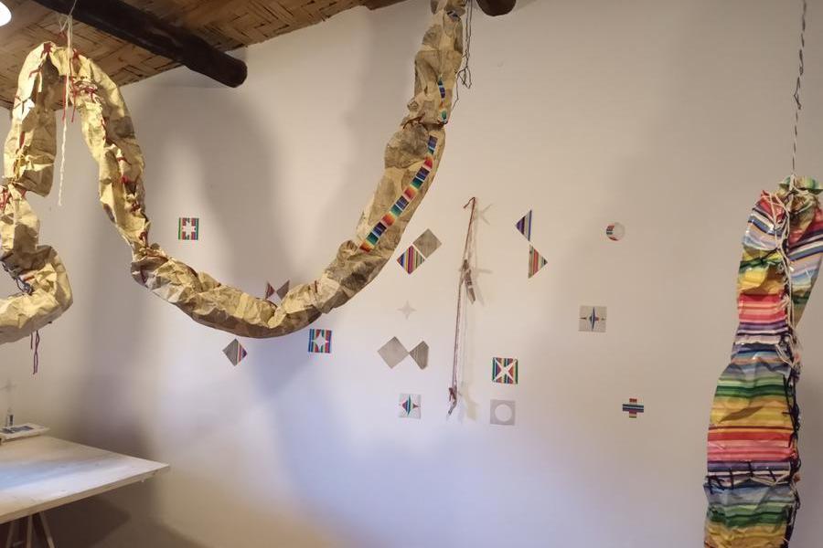 Opera dell'artista cileno Ramiro Peonveiga (foto Pintus)