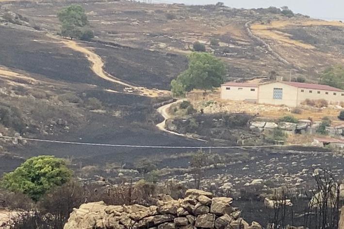 Ittiri, dopo l'incendio (Foto C.Fiori)