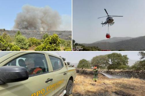 La Sardegna continua a bruciare: emergenza nel Nuorese e in Ogliastra