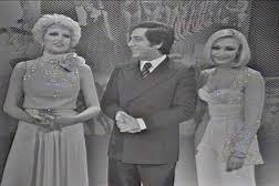 Mina, Corrado e Raffaella Carrà a Milleluci
