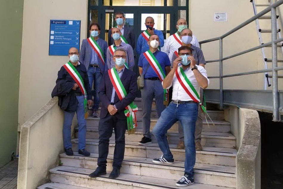 "San Gavino, la protesta dei sindaci: ""No al trasferimento di Diabetologia"" FOTO"