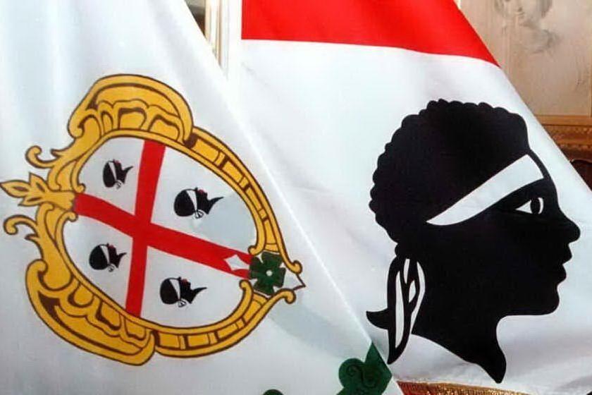 La bandiera con i 4 Mori (Ansa)