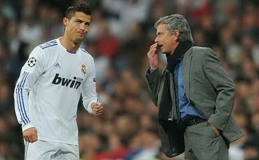 Insieme a Cristiano Ronaldo (archivio L'Unione Sarda)