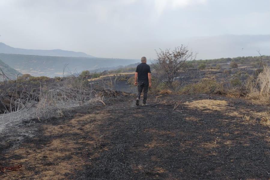 Il Guilcier devastato dalle fiamme (foto Orbana)