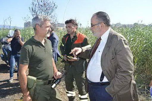 In sindaco Delunas insieme alla Forestale a Molentargius