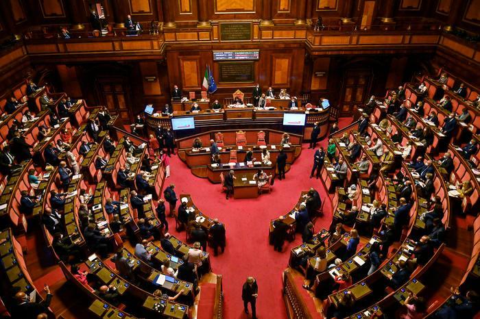 L'aula del Senato (foto Ansa)