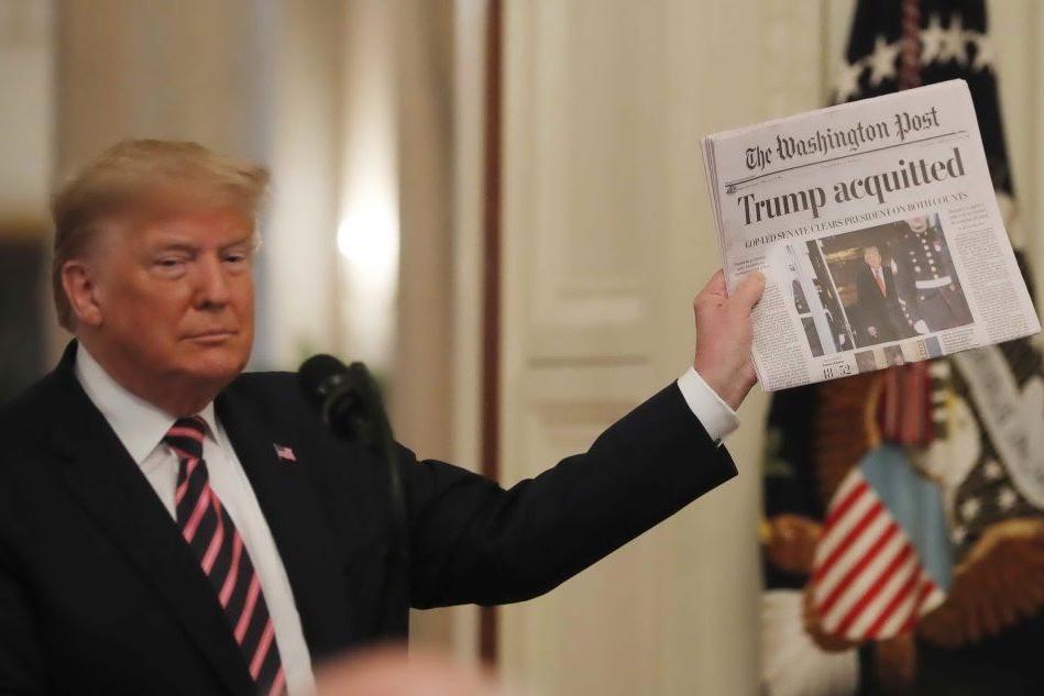 """Trump parla alla nazione: """"Impeachment? Una grande ingiustizia"""""""