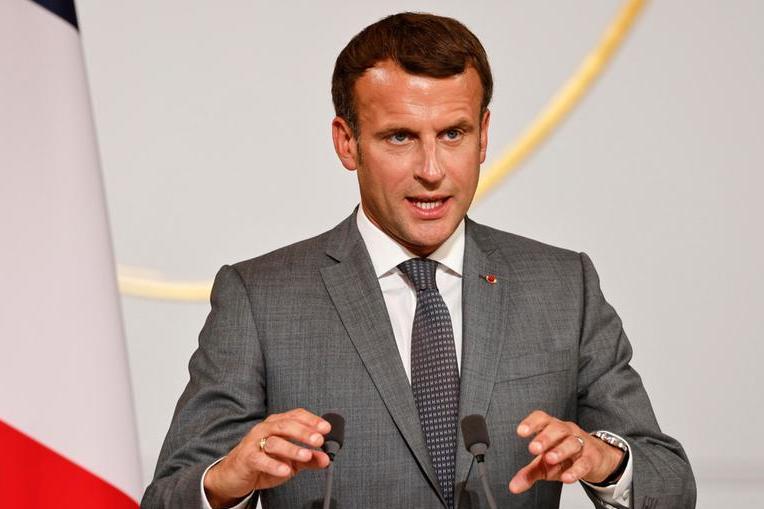 Il presidente francese Emmanuel Macron (Ansa-Epa)