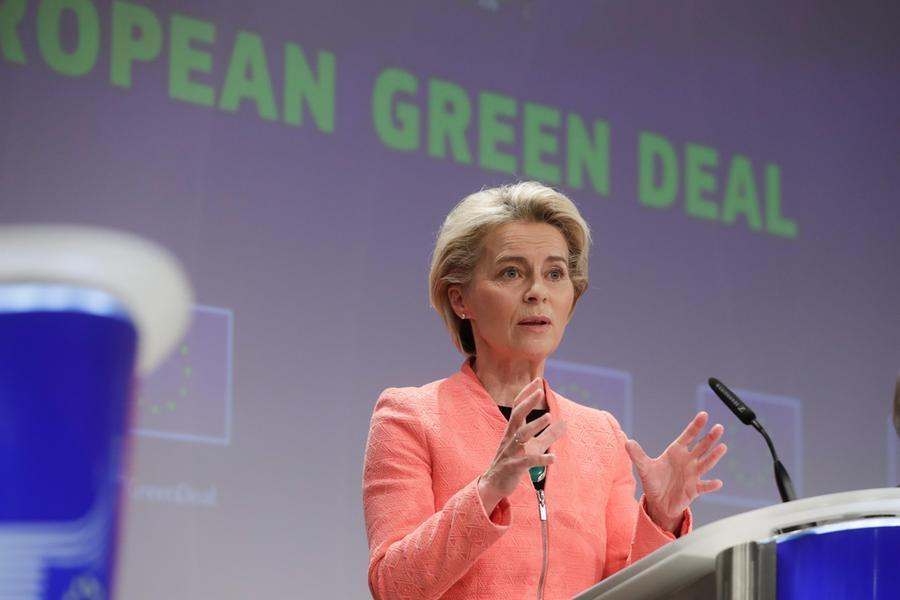 La presidente della Commissione Ue Ursula von der Leyen (Ansa-Epa)