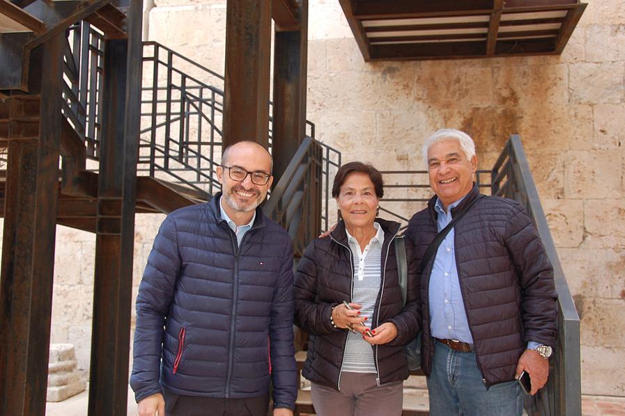A Cagliari riapre al pubblico la Torre dell'Elefante: i primi visitatori sono Rita e Giuseppe