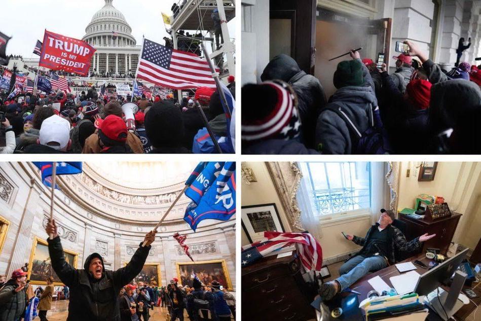 Usa: assalto al Congresso, 4 morti. Proclamata la vittoria di Biden. Facebook blocca Trump